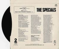 THE SPECIALS (THE SPECIAL AKA) Ghost Town Vinyl Record 7 Inch 2 Tone 1981
